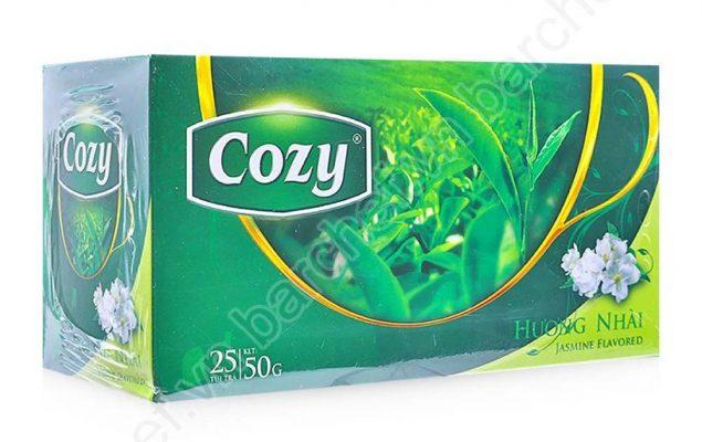 Trà xanh túi lọc Cozy ướp hương nhài - Gia công trà túi lọc Green D World