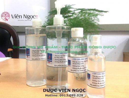 Sản phẩm gia công nước rửa tay khô diệt khuẩn theo yêu cầu