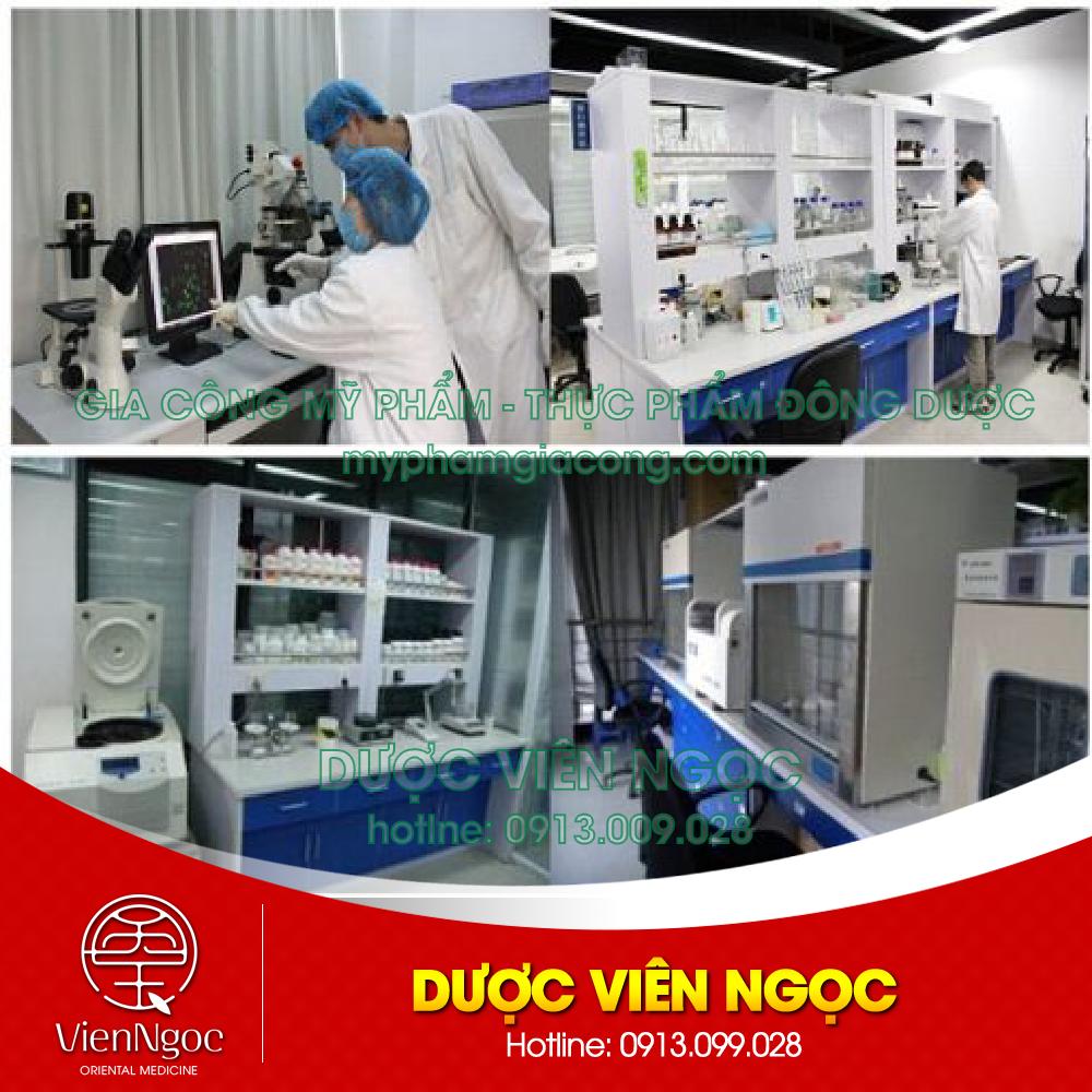 Quy trình sản xuất mỹ phẩm khép kín tại Dược Viên Ngọc